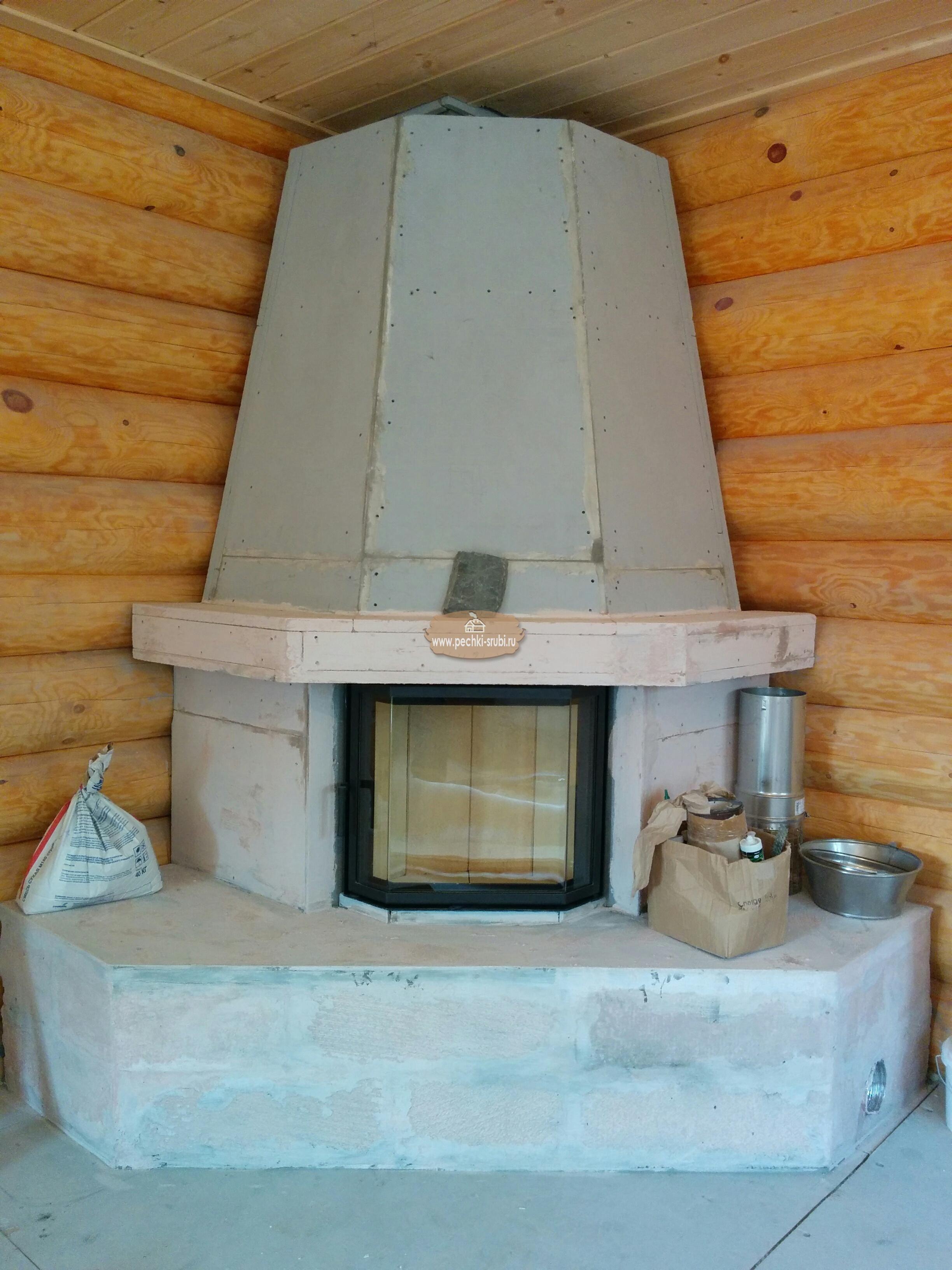 Камин с дымоходом под ключ камин печь нормы установки