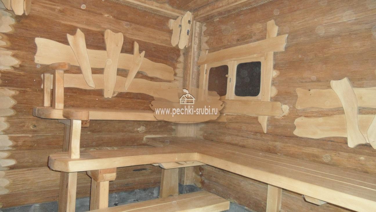 отделка бани необрезной доской фото